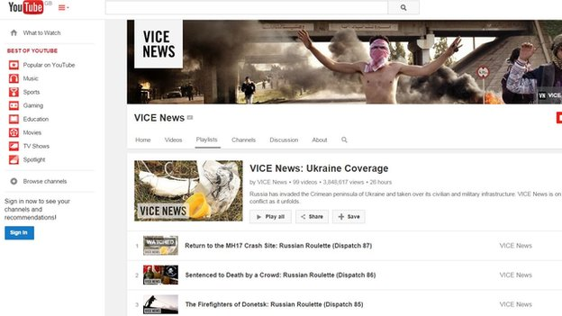 Vice News YouTube channel