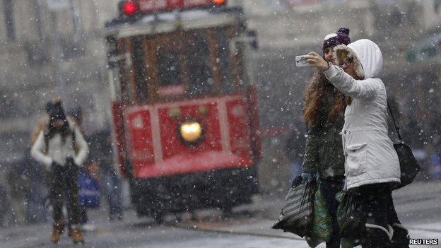 Selfie being taken in Istanbul