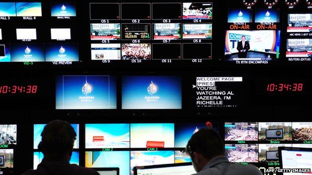 Al Jazeera America studio gallery