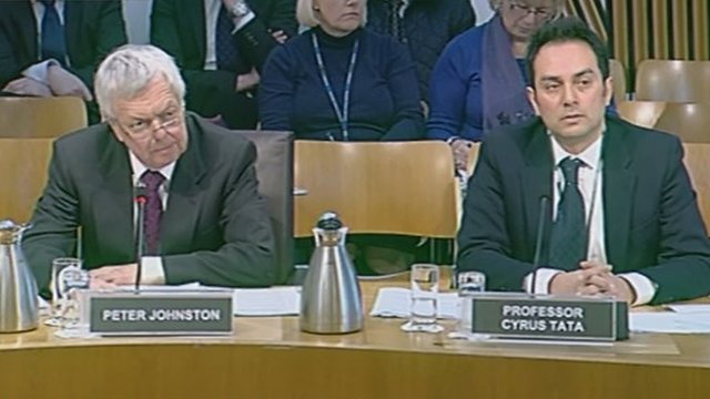 The committee took evidence from Professor Cyrus Tata from the University of Strathclyde and Peter Johnston from the  Risk Management Authority