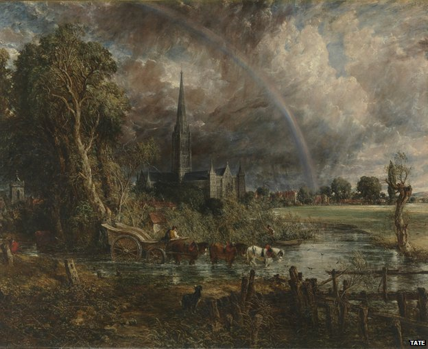 "John Constable's ""Salisbury Cathedral from the Meadows"""