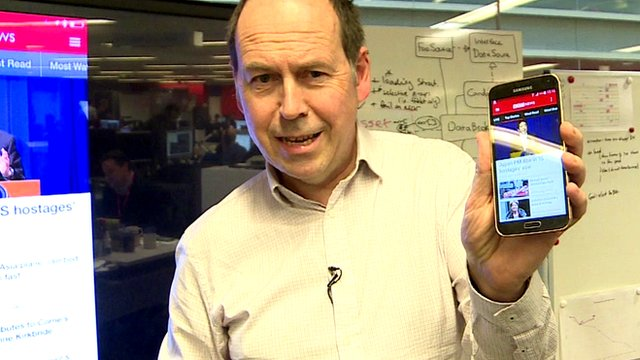 Rory Cellan-Jones with BBC News app