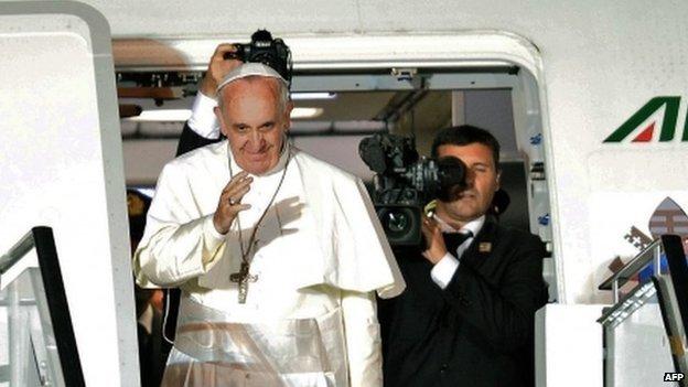 Pope leaves Brazil