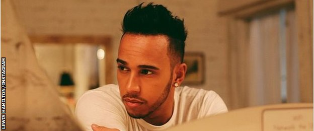 Lewis Hamilton new hair