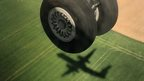 Wheels of an aeroplane