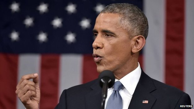 US President Barack Obama delivers his State of the Union address to a joint session of Congress on Capitol Hill in Washington on 20 January, 2015.