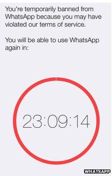WhatsApp clock