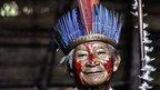 The elder, or paje of Tupe village