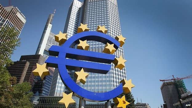euro symbol outside ECB headquarters