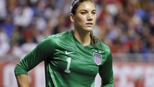 US women's team goalkeeper Hope Solo