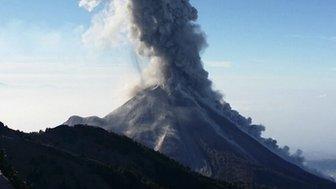 Colima volcano in Mexico