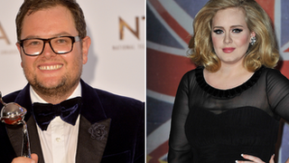 BBC - Newsbeat - Alan Carr jokes Adele's new album is one of 'punk' and 'swearing'