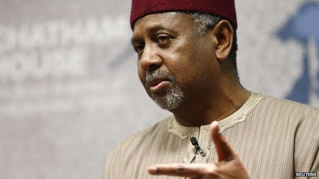 Nigeria's National Security Advisor Mohammed Sambo Dasuki listens to a question after his address at Chatham House in London, 22 January, 2015