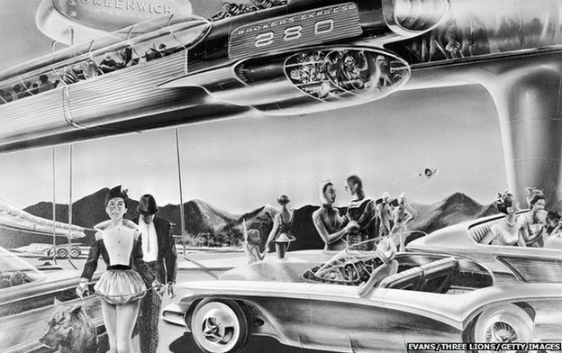 1950s artist's impression of future monorail system