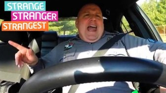Cop mimes to Taylor Swift