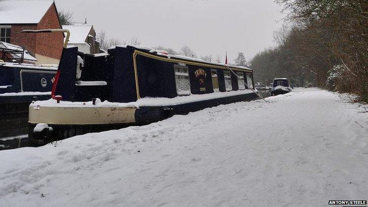Snowy Oxford Canal