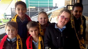 Young Cambridge United supporters
