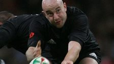 Brendon Leonard's last cap for New Zealand was against Wales in 2009
