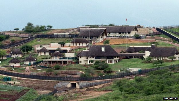 A general view of South Africa President Jacob Zuma's private Nkandla home on 12 October 2012