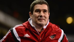 Nigel Clough on the touchline at White Hart Lane
