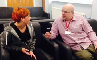 Richard Gordon interviews student