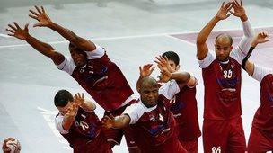 Men's handball game