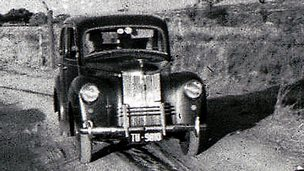 Rod Kruger's family car, a Ford Prefect