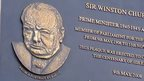 Plaque to Winston Churchill in Dundee