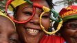 Cameroonian football fans in Malabo, Equatorial Guinea - Saturday 17 January 2015