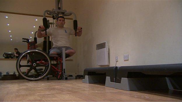 Ben Parkinson weight training