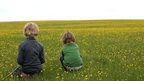Children in field
