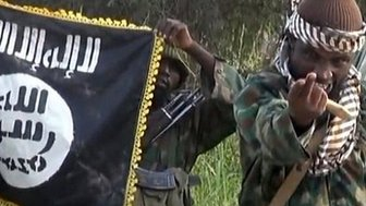 Boko Haram's leader taken from a video released by the group in October 2014