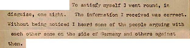 Extract of letter describing how al-Razuki went undercover