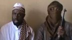 A screengrab taken from a video released on You Tube on April 12, 2012 apparently shows Boko Haram leader Abubakar Shekau (C) sitting flanked by militants.