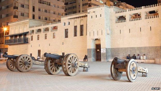 The fort still stands in Sharjah today