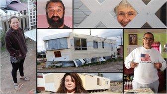 Composite of photos from Sleepy Hollow trailer park