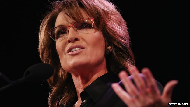 Former Republican Vice-Presidential candidate Sarah Palin.