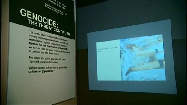 Display at Holocaust museum