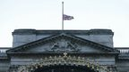 "The Union flag flies at half mast to mark the death of Saudi Arabia""s King Abdullah, at Buckingham Palace in London."