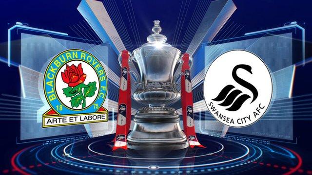 Swansea Cup Win fa Cup Blackburn 3-1 Swansea