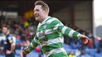 Kris Commons celebrates after scoring for Celtic against Ross County