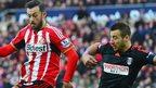 Sunderland's Steven Fletcher and Fulham's Nikolay Bodurov