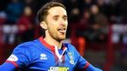 Nick Ross celebrates his goal for Inverness