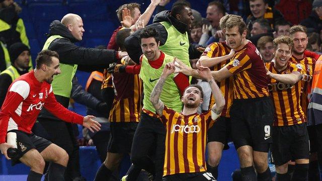 FA Cup: Chelsea 2-4 Bradford highlights