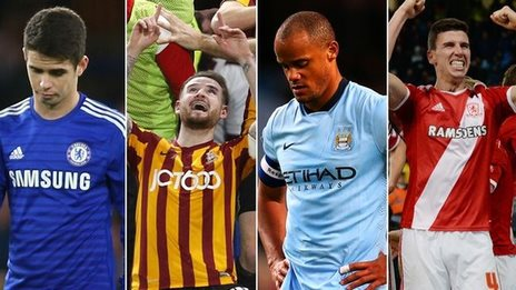 Chelsea, Bradford, Manchester City and Middlesbrough