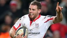 Darren Cave scored a hat-trick for Ulster as they beat Leicester in the European Champions Cup
