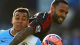 Kyle Bartley was sent off for this challenge on Josh King