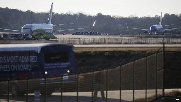 US planes targeted by bomb threats...