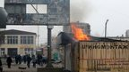 Rocket attacks on the Ukrainian city of Mariupol