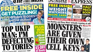 Mail and Express front pages
